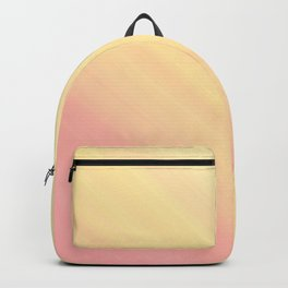 Pastel Ombre Millennial Pink Yellow Diagonal Stripes | Peach, apricot gradient pattern Backpack