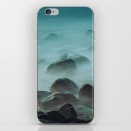 Ocean waves against the rocks iPhone Skin