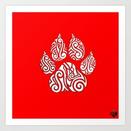 Tribal Tiger Paw Art Print