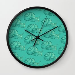 Snails! Wall Clock