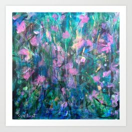"""FAIRY DREAMS"" Original Painting by Cyd Rust Art Print"