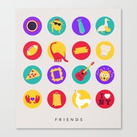 friends tv Canvas Prints featuring Friends / TV / Things by I'm Emma R
