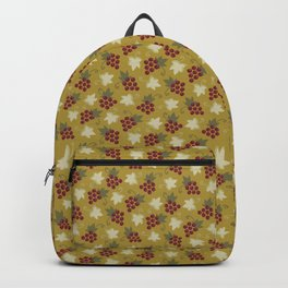 Sweet Grapevine on Old Gold Backpack