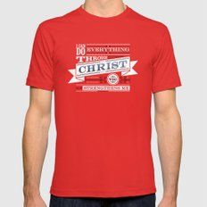 Philippians 4:13 2X-LARGE Red Mens Fitted Tee