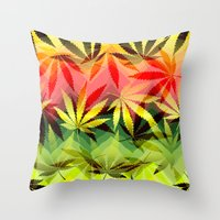 marijuana Throw Pillows featuring Marijuana by SpecialTees