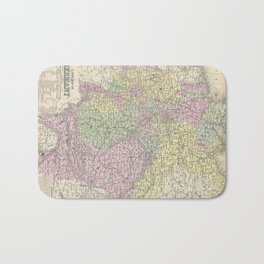 Vintage Map of Germany (1853)  Bath Mat