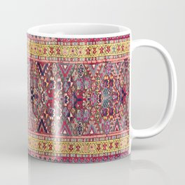 Kolyai Long Antique Persian Kurdish Rug Coffee Mug