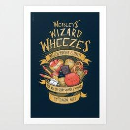 Wheezes Art Print