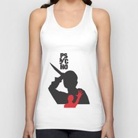 psycho Tank Tops featuring Psycho  by Geminianum
