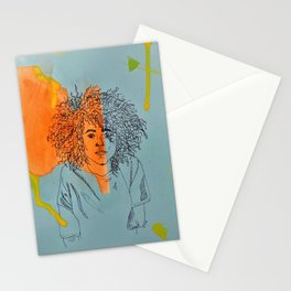 Girl with Great Hair Stationery Cards
