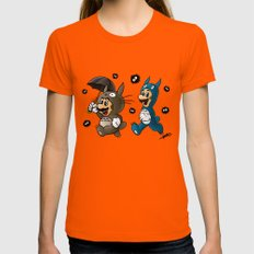 Super Totoro Bros. Alternative MEDIUM Womens Fitted Tee Orange