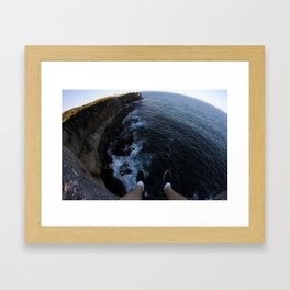 Sea side cliff  Framed Art Print