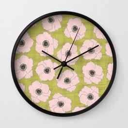 Anemone Pattern Wall Clock