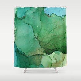Tropical island Shower Curtain