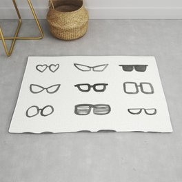 Black and White Sunglasses Rug