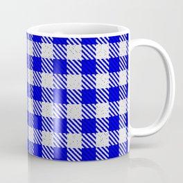 Medium Blue Buffalo Plaid Coffee Mug
