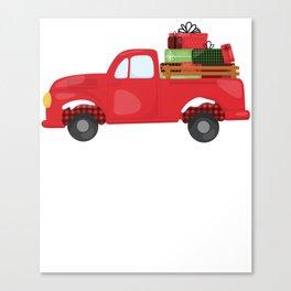 Christmas Pickup Hauling Presents Canvas Print