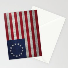 USA Betsy Ross flag - Vintage Retro Style Stationery Cards