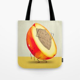 Lazy Peach Pit Tote Bag