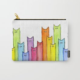Nursery-Art-Print-Cat-Rainbow-Whimsical-Animals Carry-All Pouch