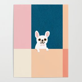 Little_French_Bulldog_Love_Minimalism_001 Poster