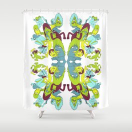 Here and There Shower Curtain