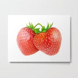 Pair of strawberries Metal Print