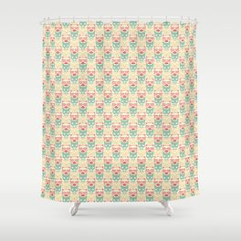 Pattern of cats hipsters Shower Curtain