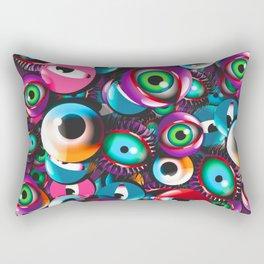 Monster Eyes Party Rectangular Pillow