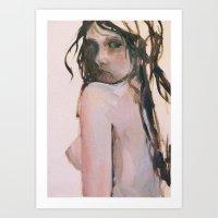 fear Art Prints featuring Fear by scott french studio