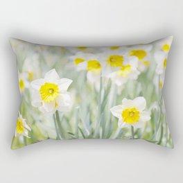 White and yellow daffodils Rectangular Pillow