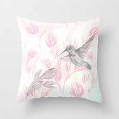 Delicate Symphony Throw Pillow