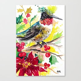 Christmas hummingbird 2 Canvas Print