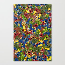 Sesame Street Characters Canvas Print