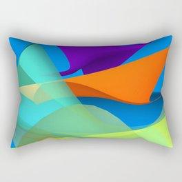 waves over blue Rectangular Pillow