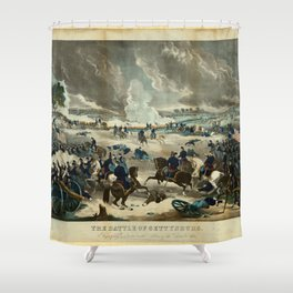 Battle of Gettysburg by Thomas Kelly Shower Curtain