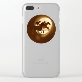 Horse racing (Courses hippiques) Clear iPhone Case