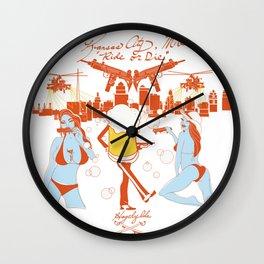 """KCMO """"Ride or Die"""" Wall Clock"""