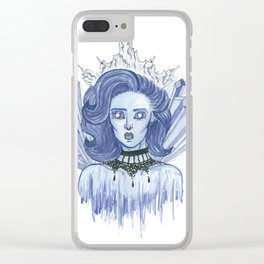 Queen of ice Clear iPhone Case
