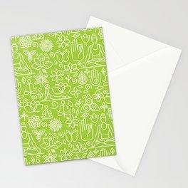 Yoga Pattern | Yoga Namaste Health Meditation Yogi Stationery Cards