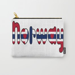 Norway Font with Norwegian Flag Carry-All Pouch