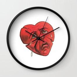 Sad Vintage/Retro Valentines Heart Wall Clock