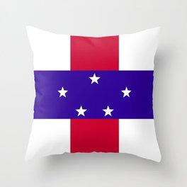 Netherlands Antilles flag emblem Throw Pillow