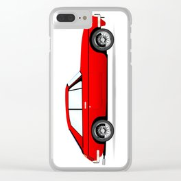 Sports Car Coupe Clear iPhone Case