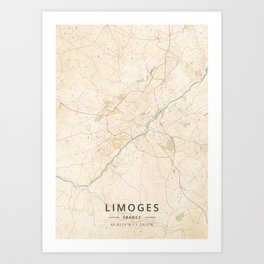 Limoges France Map.Limoges Art Prints Society6