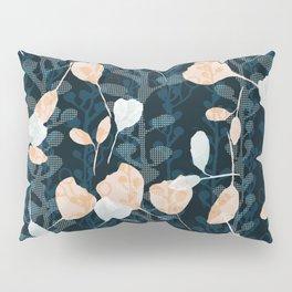 Berry Vine Print Teal and Peach Pillow Sham