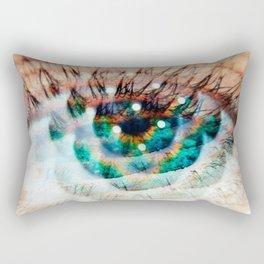 Green Eyes Hypnotize Rectangular Pillow