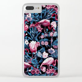 Floral and Flamingo VIII Clear iPhone Case