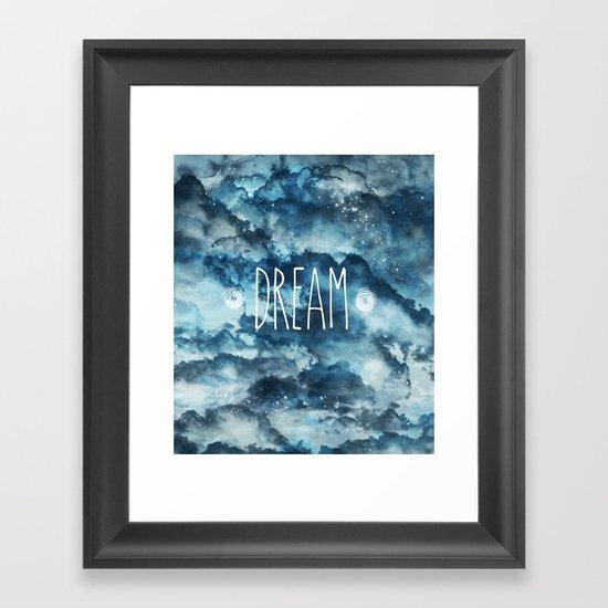Dream in Blue Framed Art Print