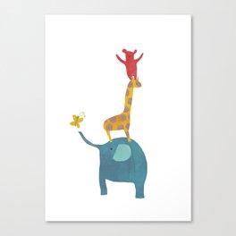 Animal Stack Canvas Print
